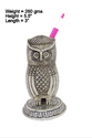 White Metal Owl Shape Pen Stand