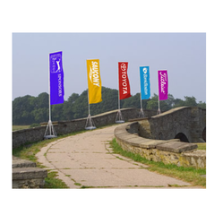 Cotton Embroidered Pole Banner