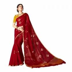 Cotton Silk Party Wear Weaving Saree, 5.5mtr