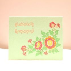 Patterned Hardboard Invitations Christain Wedding Cards KL-01005H3, Size: Large ,11x8.25x0.5 In