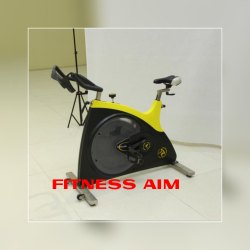 FITNESS AIM YELLOW AND BLACK SPIN BIKE, Features: Belt Drive, Model Name/Number: Ai-sp
