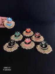 Artificial Golden Matte Earrings