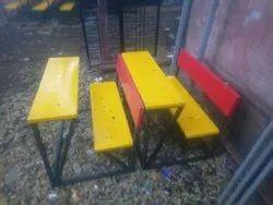 Two Seater Fiber School Desk Bench