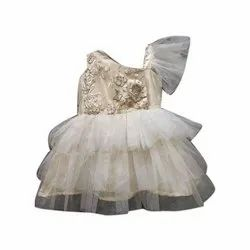 Sleeveless Embroidered Girls Party Wear Frock