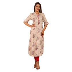 Half Collar Cotton Kurti