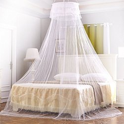 Poly Cotton White Medicated Mosquito Bed Net, Size: 180x180x140 Cm