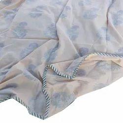 Cotton Hand Block Print Dohar Blanket, Size: 6x9 Feet
