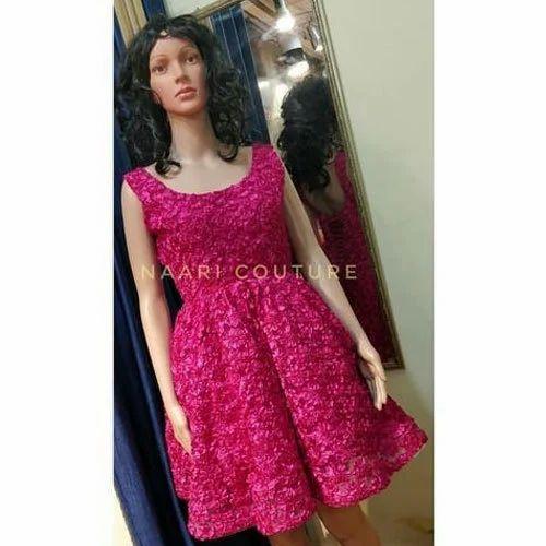 4ef826e0b9cc7 Ladies Sleeveless Pink Designer Short Dress, Rs 3000 /piece | ID ...