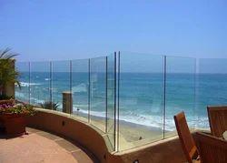Fully Glass Balcony Railing