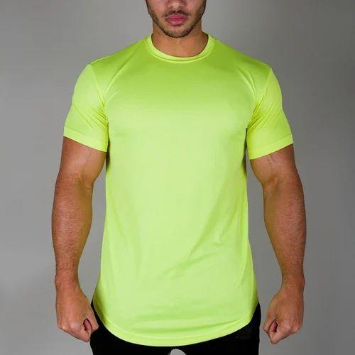 6c6f403b5 Parrot Green Mens Plain Sports T Shirt, Rs 120 /piece, Sabra Libas ...
