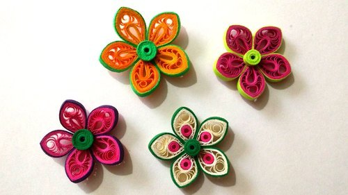 Paper quilling flowers decorative uses rs 49 piece craft paper quilling flowers decorative uses mightylinksfo