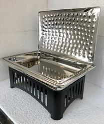 Grand Rect 1/1 Lift Top Chafer with Punched effect Cover & Caged Stand