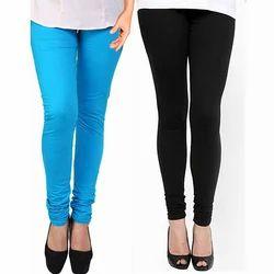Ladies Plain Slim Fit Churidar Legging