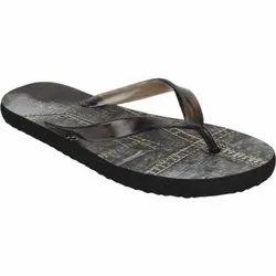 Black Men Mens Rubber Slipper, Size: 6 To 10