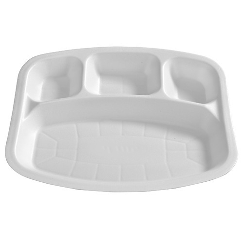 4 Compartment Rectangular Disposable Plate  sc 1 st  IndiaMART & 4 Compartment Rectangular Disposable Plate Bagasse Plate ...