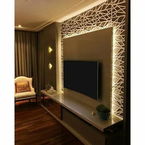 Wooden Wall Mounted Modern Tv Unit Max Tv Screen Size Upto39 Inch Rs 31000 Unit Id 21147412491