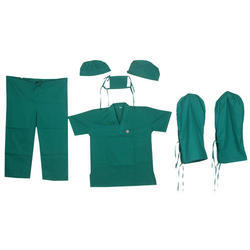 Green Cotton Medical Clothing, Size: S