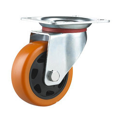Swivel With Brake SS 304 PU Caster Wheel