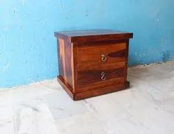 Sheesham Wood 2 Drawer Bedside