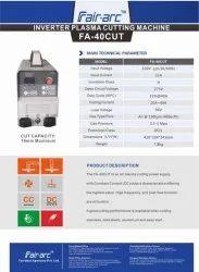 Fair Arc Make IGBT Controlled Plasma Machine 40amps