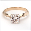 1.50ct Brown Pink CVD Diamond Ring SI1 Pink Gold 14k 2.92gm USA7 Size