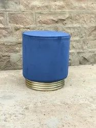 Round Metal and Bent Ply Upholstery Sitting Stool for Restaurant, Size: 14x14x18 Inches