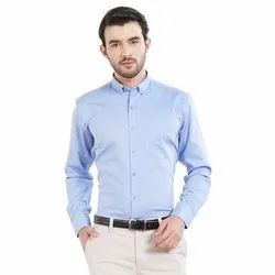M-XXL Long Sleeve Mens Collar Neck Cotton Plain Shirt