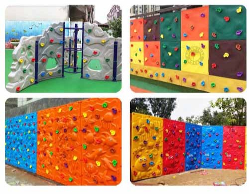 Multicolor Fiber Cotted School Kids Climbing Wall Rs 1500 Psqft Id 18733143748