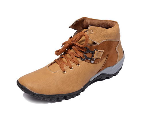 Shoebox Mens Camel Boots Shoes With Party Wear Look