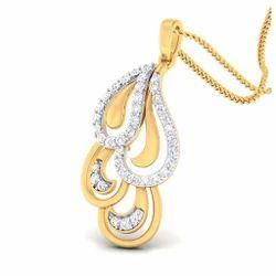 Stylish Diamond Gold Pendant
