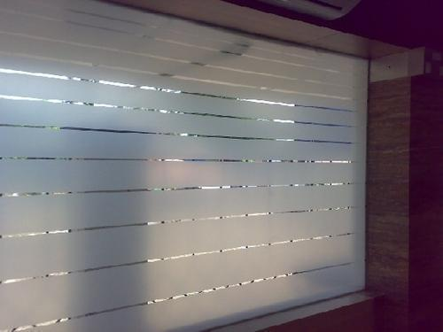 Frosted Glass Film Design With Logo Printing फ्रॉस्टेड