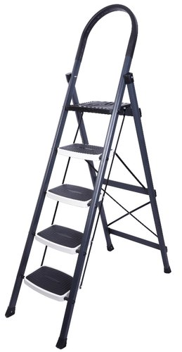 Powder Coated Grey M S Folding Step Ladder 5 Step Rs 3400 Piece Id 20077989130