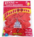 12 GB Sports Jinni Latex Heart Shape Balloons (35 Pcs)