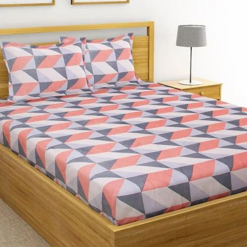 Cotton Printed Double Bed Sheet Size, How Big Is A Double Bed Sheet In Cm