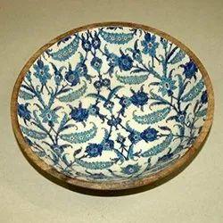 Antique Meena Print Enamel Painted Bowl
