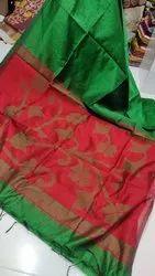 cotton silk Party Wear Full body lata designer handloom saree, 6.5 m, hand weaved