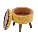 Rugs Upholstery Round Stool Ottomans For Living Room