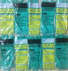Aqua Green Nitrile Flocklined Hand Gloves