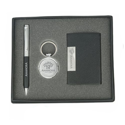 Jainex Corporate Gifts Black 3 In 1 Gift Combo Set