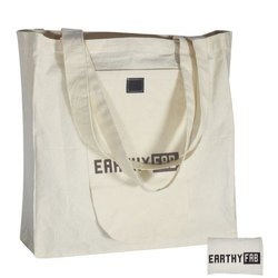 Printed Brown Cotton Foldable Bag, Number Of Straps: 2, Size: 15x15 Inches