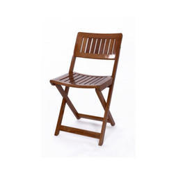Brown Space Saving Foldable Chair