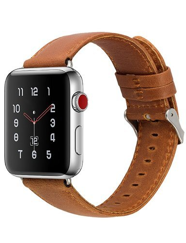 01086c285 Apple Watch Leather Band Brown, Size/ Dimension: 42mm & 38mm, Rs 999 ...