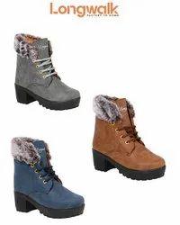 PVC Daily wear Longwalk Stylish Women Boot (Boot Fur), Size: 3uk-8uk (36-41)