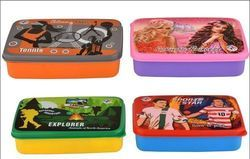 Plastic Square Sandwich Lunchbox, Capacity: 500 Ml