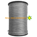 Metallic Grey Round Leather Cord