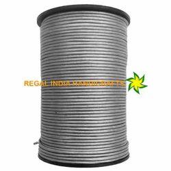 Metallic Grey Round Leather Cord