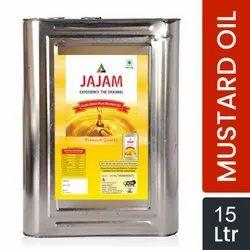 JAJAM Kachi Ghani Pure Mustard Oil 15 Ltr
