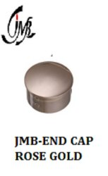 Rose Gold Finish End Cap for Railing Pipe