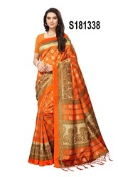 Multi Coloured Bhagalpuri Silk Printed Sarees