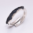 Irregular Oxidised 925 Sterling Silver Ring